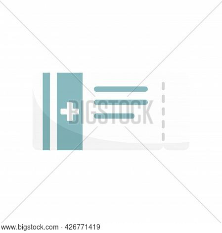 Carton Package Pill Icon. Flat Illustration Of Carton Package Pill Vector Icon Isolated On White Bac