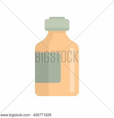 Syrup Jar Icon. Flat Illustration Of Syrup Jar Vector Icon Isolated On White Background