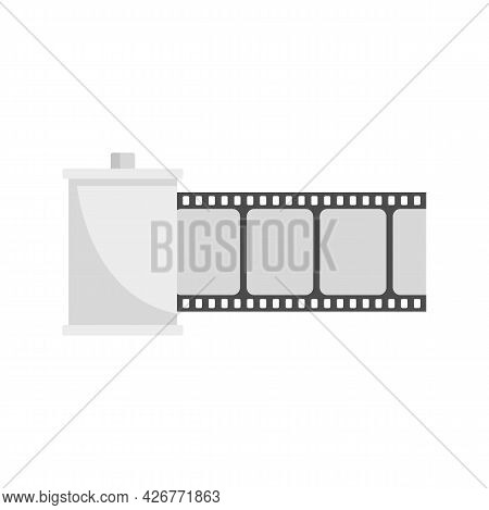Film Roll Icon. Flat Illustration Of Film Roll Vector Icon Isolated On White Background