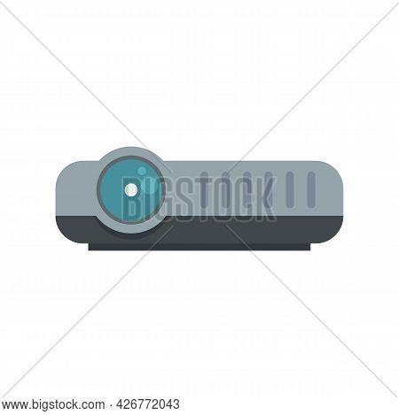 Modern Projector Icon. Flat Illustration Of Modern Projector Vector Icon Isolated On White Backgroun
