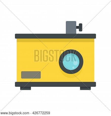 Old Film Projector Icon. Flat Illustration Of Old Film Projector Vector Icon Isolated On White Backg