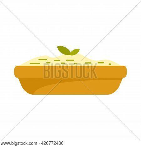 Greek Feta Cuisine Icon. Flat Illustration Of Greek Feta Cuisine Vector Icon Isolated On White Backg