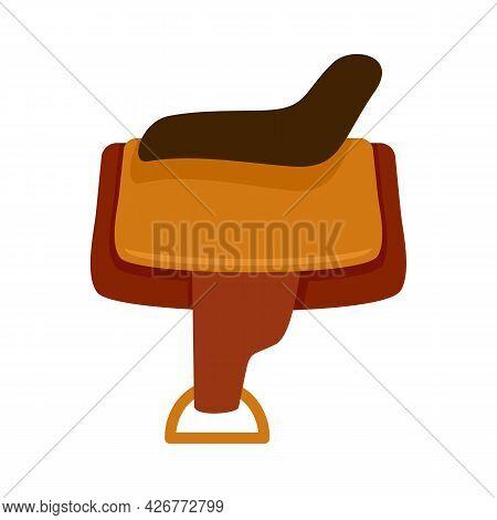Horse Saddle Icon. Flat Illustration Of Horse Saddle Vector Icon Isolated On White Background