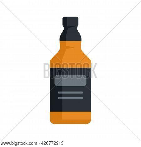 Whiskey Bottle Icon. Flat Illustration Of Whiskey Bottle Vector Icon Isolated On White Background