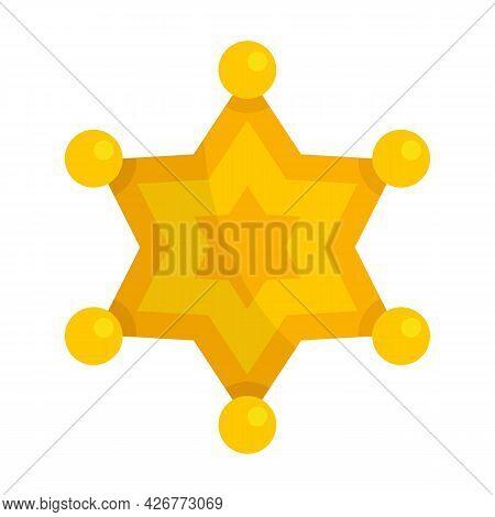 Sheriff Star Icon. Flat Illustration Of Sheriff Star Vector Icon Isolated On White Background