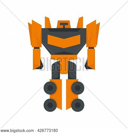 Fantasy Robot Transformer Icon. Flat Illustration Of Fantasy Robot Transformer Vector Icon Isolated
