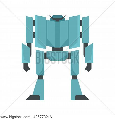 Fear Robot Transformer Icon. Flat Illustration Of Fear Robot Transformer Vector Icon Isolated On Whi