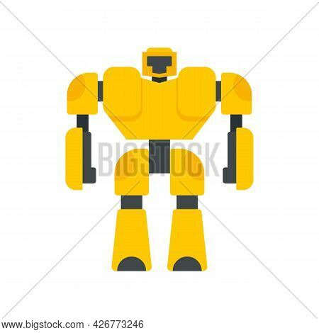 Game Robot Transformer Icon. Flat Illustration Of Game Robot Transformer Vector Icon Isolated On Whi