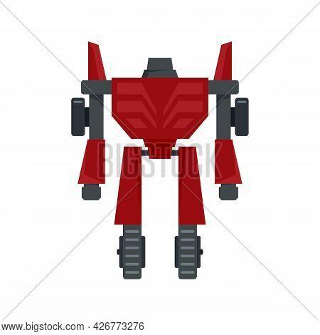 Hero Robot Transformer Icon. Flat Illustration Of Hero Robot Transformer Vector Icon Isolated On Whi