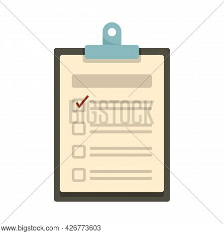 Checklist Icon. Flat Illustration Of Checklist Vector Icon Isolated On White Background