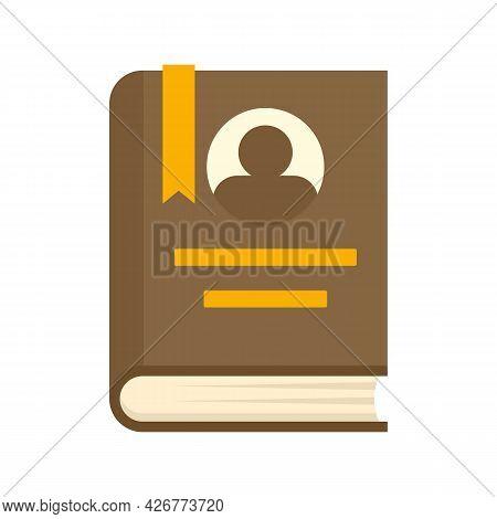 University Book Icon. Flat Illustration Of University Book Vector Icon Isolated On White Background