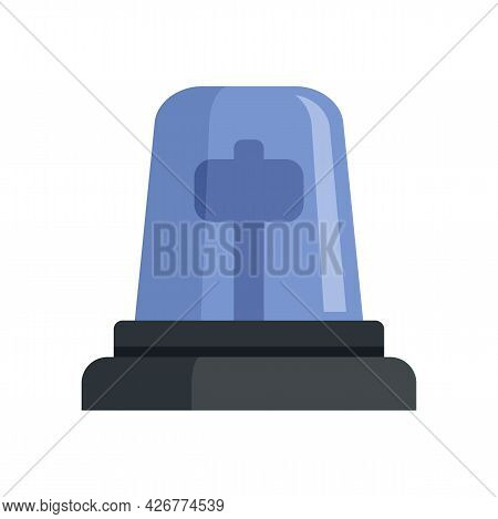 Police Beacon Icon. Flat Illustration Of Police Beacon Vector Icon Isolated On White Background