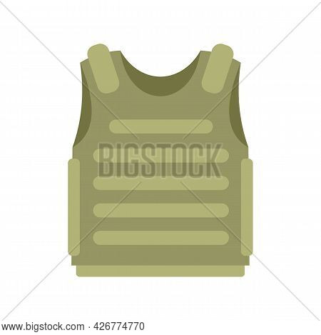 Body Armor Icon. Flat Illustration Of Body Armor Vector Icon Isolated On White Background