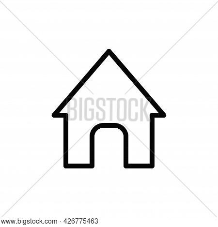 Home Icon Isolated On White Background. Home Icon In Trendy Design Style For Web Site And Mobile App