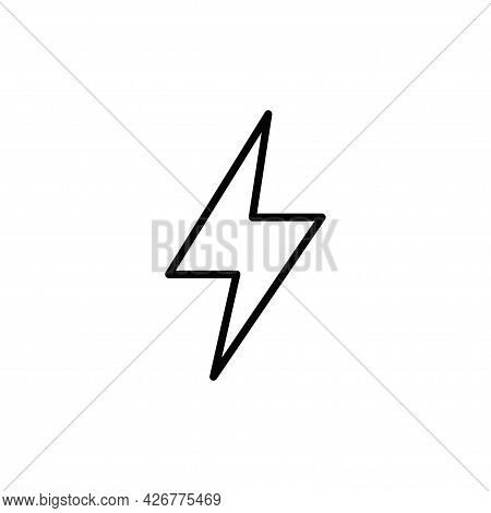 Flash Icon Isolated On White Background. Flash Icon In Trendy Design Style For Web Site And Mobile A