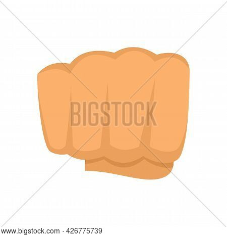 Hand Fist Icon. Flat Illustration Of Hand Fist Vector Icon Isolated On White Background