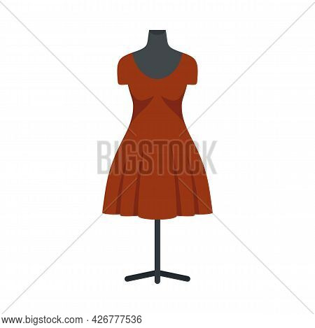 Dress Mannequin Icon. Flat Illustration Of Dress Mannequin Vector Icon Isolated On White Background