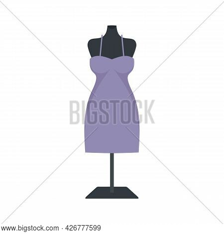 Atelier Mannequin Icon. Flat Illustration Of Atelier Mannequin Vector Icon Isolated On White Backgro