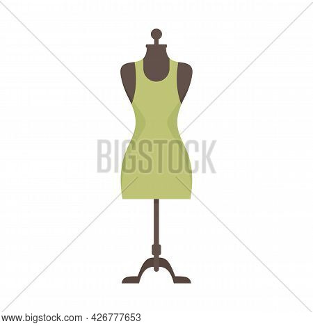 Beauty Mannequin Icon. Flat Illustration Of Beauty Mannequin Vector Icon Isolated On White Backgroun