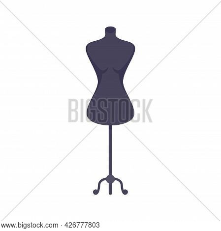 Model Mannequin Icon. Flat Illustration Of Model Mannequin Vector Icon Isolated On White Background