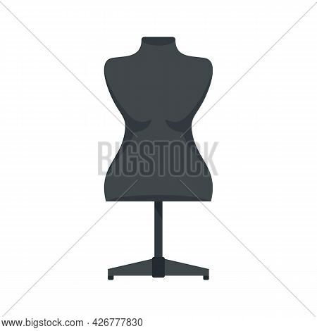 Plastic Mannequin Icon. Flat Illustration Of Plastic Mannequin Vector Icon Isolated On White Backgro