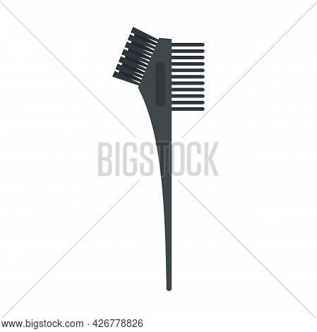 Hair Dye Professional Brush Icon. Flat Illustration Of Hair Dye Professional Brush Vector Icon Isola