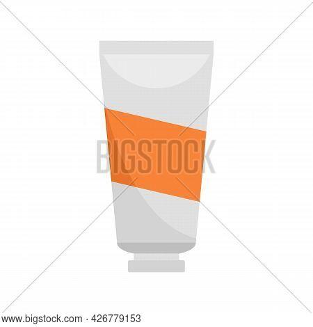 Hair Dye Tube Cream Icon. Flat Illustration Of Hair Dye Tube Cream Vector Icon Isolated On White Bac