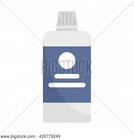 Salon Hair Dye Bottle Icon. Flat Illustration Of Salon Hair Dye Bottle Vector Icon Isolated On White