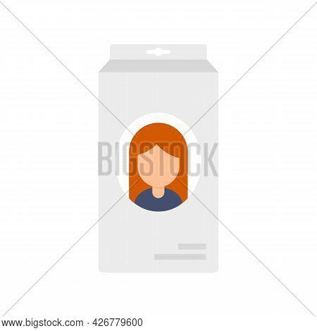 Cosmetology Hair Dye Icon. Flat Illustration Of Cosmetology Hair Dye Vector Icon Isolated On White B
