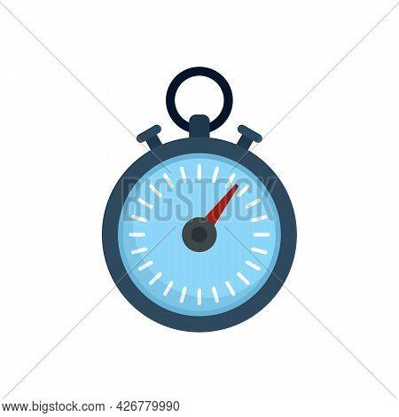 Dog Training Stopwatch Icon. Flat Illustration Of Dog Training Stopwatch Vector Icon Isolated On Whi