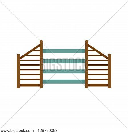 Dog Training Barrier Icon. Flat Illustration Of Dog Training Barrier Vector Icon Isolated On White B