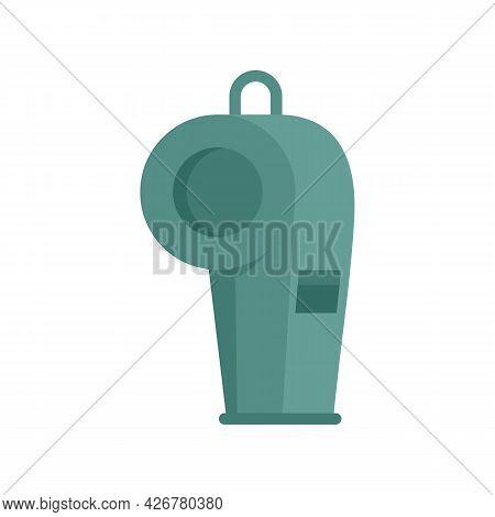 Dog Training Whistle Icon. Flat Illustration Of Dog Training Whistle Vector Icon Isolated On White B