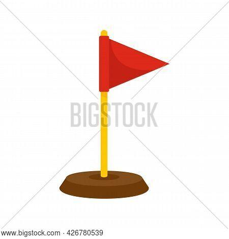 Dog Training Red Flag Icon. Flat Illustration Of Dog Training Red Flag Vector Icon Isolated On White