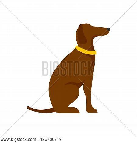 Police Dog Training Icon. Flat Illustration Of Police Dog Training Vector Icon Isolated On White Bac