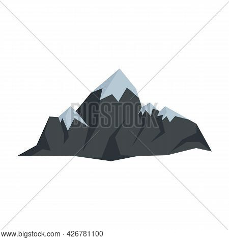 Swiss Mountains Icon. Flat Illustration Of Swiss Mountains Vector Icon Isolated On White Background