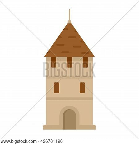 Swiss Tower Icon. Flat Illustration Of Swiss Tower Vector Icon Isolated On White Background