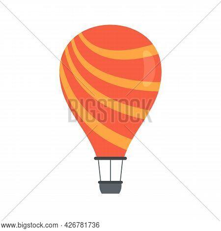 Fun Air Balloon Icon. Flat Illustration Of Fun Air Balloon Vector Icon Isolated On White Background