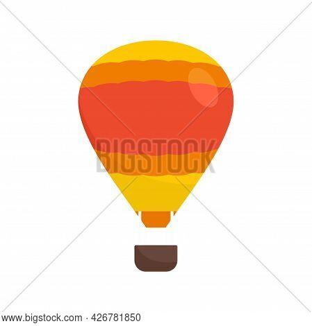 Adventure Air Balloon Icon. Flat Illustration Of Adventure Air Balloon Vector Icon Isolated On White