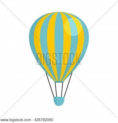 Trip Air Balloon Icon. Flat Illustration Of Trip Air Balloon Vector Icon Isolated On White Backgroun
