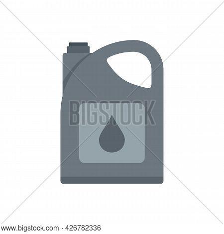 Industry Motor Oil Icon. Flat Illustration Of Industry Motor Oil Vector Icon Isolated On White Backg