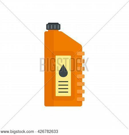 Bike Motor Oil Icon. Flat Illustration Of Bike Motor Oil Vector Icon Isolated On White Background