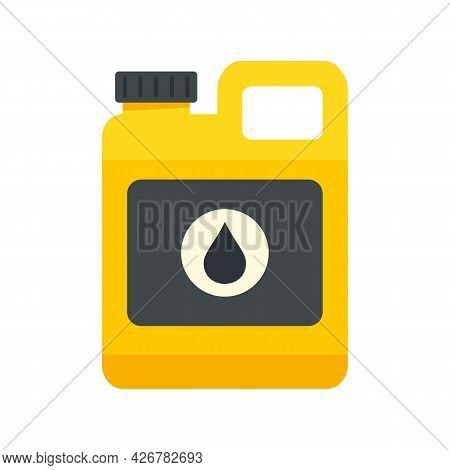 Vehicle Motor Oil Icon. Flat Illustration Of Vehicle Motor Oil Vector Icon Isolated On White Backgro