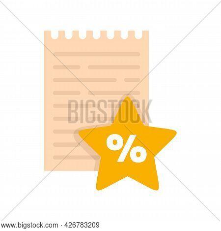 Reward Notebook Icon. Flat Illustration Of Reward Notebook Vector Icon Isolated On White Background