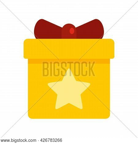 Loyalty Gift Box Icon. Flat Illustration Of Loyalty Gift Box Vector Icon Isolated On White Backgroun