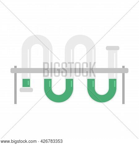 Lab Pipe Icon. Flat Illustration Of Lab Pipe Vector Icon Isolated On White Background