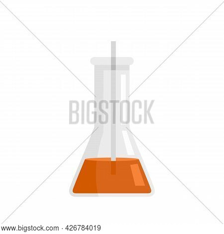 Clinic Lab Flask Icon. Flat Illustration Of Clinic Lab Flask Vector Icon Isolated On White Backgroun