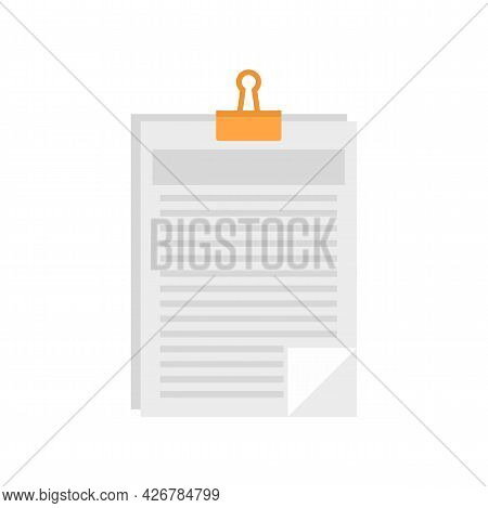 Clipboard Icon. Flat Illustration Of Clipboard Vector Icon Isolated On White Background