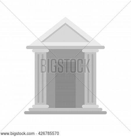 Judge Building Icon. Flat Illustration Of Judge Building Vector Icon Isolated On White Background