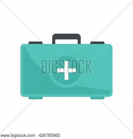 First Aid Kit Icon. Flat Illustration Of First Aid Kit Vector Icon Isolated On White Background