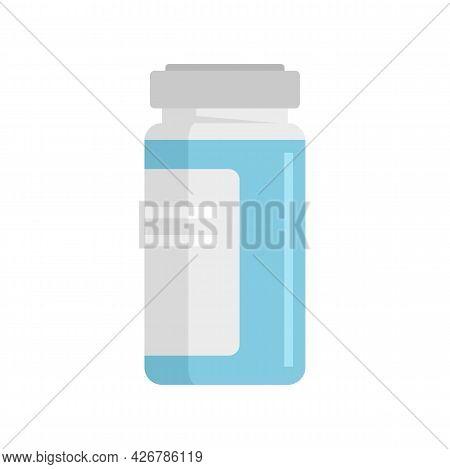 Syringe Ampule Icon. Flat Illustration Of Syringe Ampule Vector Icon Isolated On White Background
